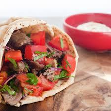 lamb shawarma with tahini dressing hello table