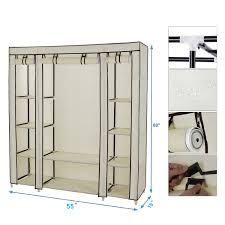 54 x 69 portable closet storage organizer wardrobe clothes rack