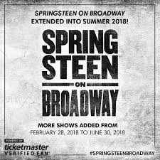 bruce springsteen verified fan bruce springsteen on twitter springsteenbroadway extended into