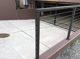stainless steel deck railing black u2014 railing stairs and kitchen