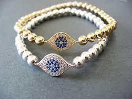 evil eye charm bracelet images Evil eye beads bracelet images jpg