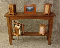 mission sofa hall table grandprairiewoodworks artfire gallery