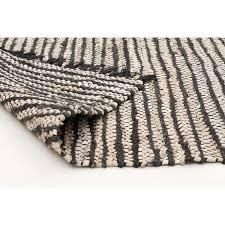 Modern White Rugs by Shimla Black Jute U0026 White Leather Rug