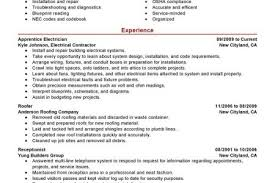 Journeyman Electrician Resume Sample by Lineman Resume Template Reentrycorps