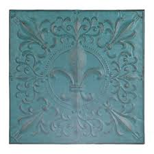 embossed bronze fleur de lis metal tile kirklands