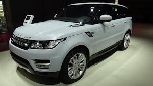 land rover white interior 2017 range rover sport exterior and interior paris auto show