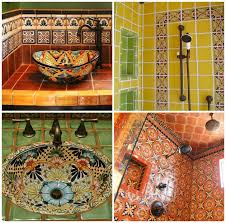 Mexican Tile Bathroom Ideas Colors Bathrooms Decorated With Talavera Tiles Paint Pattern Talavera