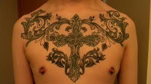 chest cross tattoo piece by baihei on deviantart