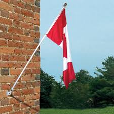 Flag Bracket Flags Unlimited 1 8 M 6 Ft Wall Mount Flagpole With Canadian Flag