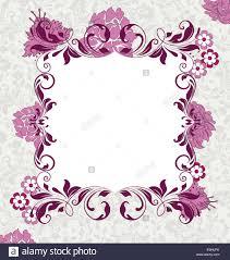 pink invitation card vintage invitation card with ornate elegant abstract floral design