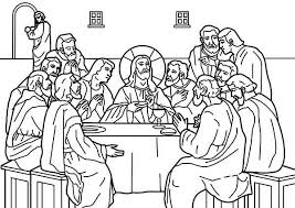 The Last Supper Coloring Page For Toddlers Coloring Pages Ideas Last Supper Coloring Page