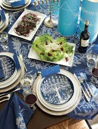 hanukkah tableware hanukkah blues silver dining table beautiful menorrah plates