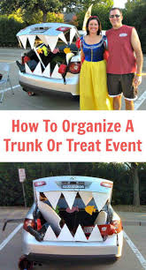 how to organize a trunk or treat event organizing halloween