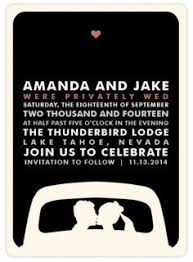 wedding reception invitation wording after ceremony change up the wording and make it a save the date announcement for