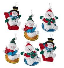 bucilla felt applique ornaments merrystockings