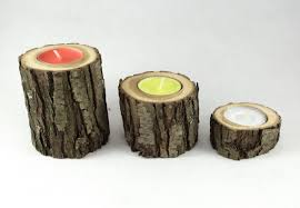 3 rustic wolf willow candle holder tea light holder wooden candle