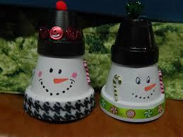 clay pot snowmen terracotta pot crafts pinterest snowman and