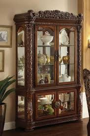 Acme Cabinet Doors Acme Furniture Vendome Curio Cabinet With Glass Doors And Mirrored