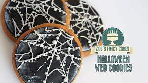 halloween spider web cookies biscuit decorating youtube