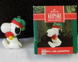 snoopy ornament etsy