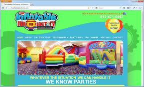 inflatable fun factory website design evansville indiana