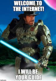 Master Chief Meme - image tagged in jedi master chief chuck norris prime imgflip