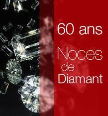 60 ans de mariage noces de noces de diamant 60 ans de mariage