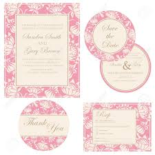 Beautiful Invitation Cards Beautiful Vintage Wedding Invitation Cards Royalty Free Cliparts