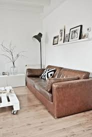 decorating around a leather sofa brown leather couch living room