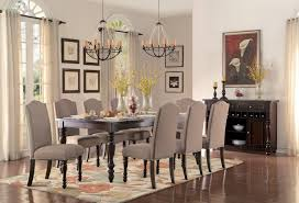 dining room 6pc dining set nail head accenting furthers the