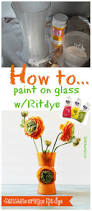 Will Rit Dye Stain My Bathtub Painting A Vase With Sunshine Orange Rit Dye Glass Wood Stain