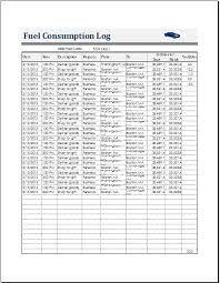 car report template exles fuel consumption log template for ms excel calc document hub