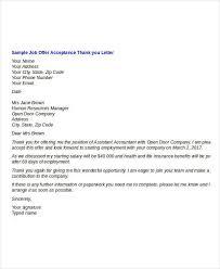 thanking letter for offer letter amitdhull co