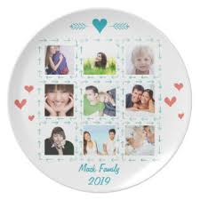 personalized photo plate family photo plates zazzle