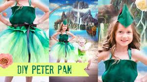 diy peter pan costume tutu no sew youtube