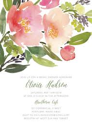watercolor floral bridal shower invitations by yao cheng minted