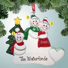 1st ornaments snow family expecting 2nd child
