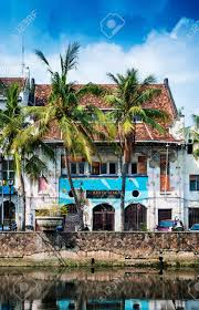 dutch colonial architecture buildings in old town of jakarta