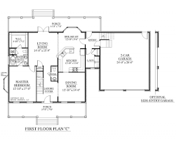 4 bedroom floor plans one story house plan southern heritage home designs house plan 2109 c the