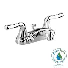 american standard colony soft 4 in centerset 2 handle low arc centerset 2 handle low arc bathroom faucet in polished