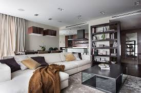 spacious living room apartment the crisp and chic kiev apartment with luxury added by