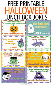 free printable halloween lunch box jokes for kids funny