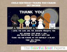 wars thank you cards wars thank you notes