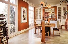 Trendy Dining Rooms With Spunky Orange - Orange dining room