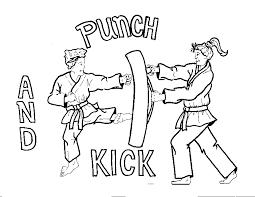 ata taekwondo coloring pages