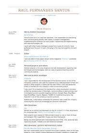 Web Developer Resume Examples by Download Android Developer Resume Haadyaooverbayresort Com