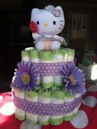kitty diaper cake party favors cakes