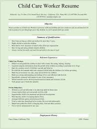 Social Work Resume Sample Child Care Worker Cover Letter Child Youth Care Worker