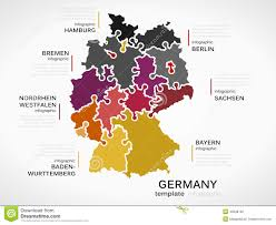 Bremen Germany Map by Map Of Germany Stock Vector Image 45648700