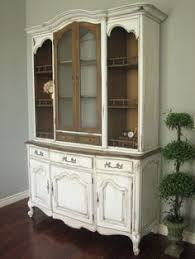 before and after french sideboard painted white with natural wood